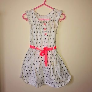 White Sailboat dress with pink bow